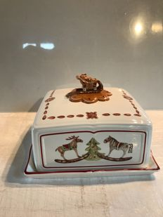 "Large tray covered ""Villeroy & Boch"" porcelain Christmas décor"