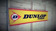 Dunlop - large banner 2009 new old stock for your garage, shop or office - 120 x 30 cm