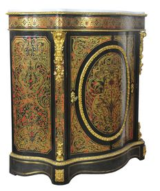 "A Napoleon III gilt-metal mounted and ""Boulle"" style marquetry ebonised meuble d'appui - France - circa 1870"