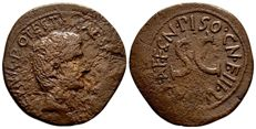 Roman Empire - Augustus & Cn. Piso Cn. F moneyer. AE As