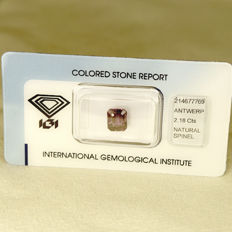 Pinkish purple spinel - 2.18 ct - no reserve
