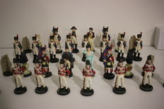 Battle of Waterloo chess set - French army (Napoleon) versus the Allied army