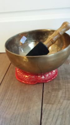 A handmade singing bowl - Nepal - late 20th century