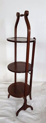 Mahogany etagère, collapsible, England, 20th century