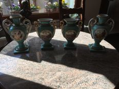 4 Imperial decorative vases, Limoges