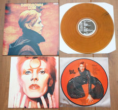 David Bowie- lot of 2 special releases: Low (on orange wax!) & All The Young Dudes picture disc lp (Special limited edition for David Bowie fan club Australia, feat. rare tracks incl. duets with Lulu & Queen!)