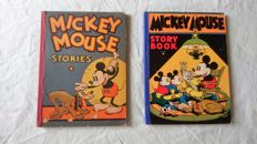 Disney, Walt - Mickey Mouse story book + Mickey Mouse stories - sc - (1931/1934)