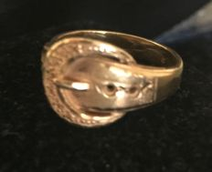 18 kt gold ring  - size 18