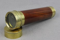 Nautical telescope in brass and mahogany - Germany - second half of the 19th century