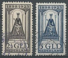 The Netherlands 1923 – Queen's Jubilee – NVPH 130 and 131