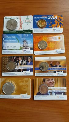 The Netherlands - collection of coins and medal in coin cards / blister 2013/2014.