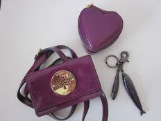 Mulberry - Set of two pouches and keychain.