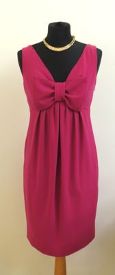 Moschino - Sleeveless fuchsia pink shift dress with bow deal