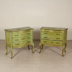 Pair of dressers in late baroque style - Italy - ca. 1930