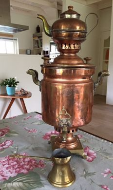 Very old (antique?) Turkish samovar (teapot), Istanbul, nice and heavy ornamental object