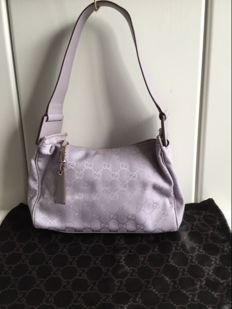 Gucci GG Monogram Lavender Small Shoulder Bag
