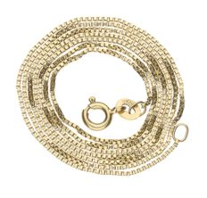 Yellow gold Venetian link necklace of 14 kt – Length: 55.9 cm