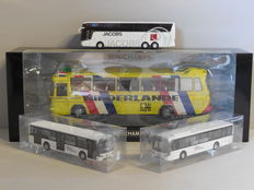 Holland Oto / Minichamps - Scale 1/87-1/43 - Lot with 4 bus models: 1 x Mercedes-Benz, 1 x Van Hool & 2 x VDL