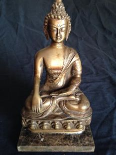 Vintage Buda Sakyamuni in bronze – Nepal – 2nd half of 20th century