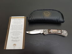 Franklin Mint - Legends of The West - Official Annie Oakley Collector Knife - silver plated