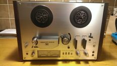 Akai vintage tape recorder, GX 4000D including empty metal Philips reel