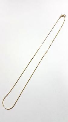 Gold (18 kt) rat tail chain - Weight: 4.68 g Measurements: Length: 42 cm