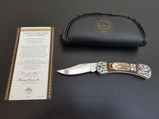 Franklin Mint - Legends of The West - Official Jesse James Collector Knife - Silver plated
