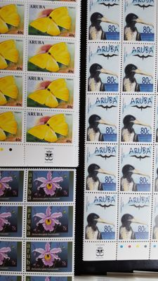 Netherlands Antilles and Aruba - batch of Blocks, sheetlets and sheet parts.