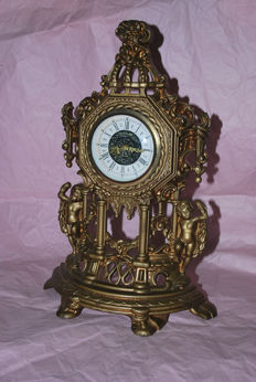 Mercedes branded mechanical clock – baroque style – first half of the 19th Century
