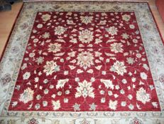 Hand-knotted Ziegler carpet, 200 x 200, Pakistan