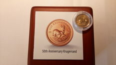 "South Africa – 1/10 Oz 2017 ""Krugerrand 50th anniversary"" – gold"