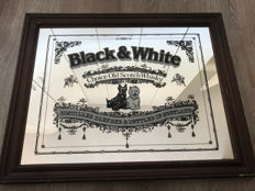 Prachtige black white choice old scotch whisky spiegel - Schotland - 2e helft 20e eeuw