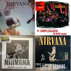 4 x Nirvana albums, 1 x Limited Edition (500) Coloured Vinyl, 2  x LP and 1 x Double LP- All New and Sealed.