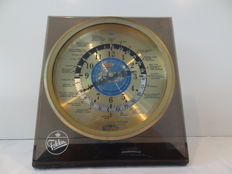 World time clock Fabr. Sextant as Fokker memorabilia - 1960s