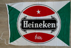 Heineken clock with calendar 1986 and Heineken flag.