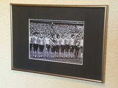 Gert Muller - German legend - beautiful framed team photo, WORLD CUP 1974 Germany + COA