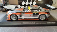 Minischamps - Scale 1/18 - Mercedes-Benz SLS AMG GT3 2013 - winner Dubai QUBAISI