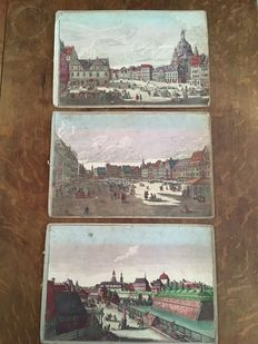 3 optica prints of European cities