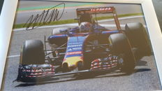 Max Verstappen - original signed photo 20x30cm - Toro Rosso Spa 2015