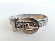 Large 925 silver bracelet with buckle – Length: approx. 23 cm