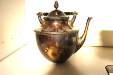 Wilkens large teapot - solid 800 silver - handcrafted around 1880 - rare - 1140.90 g