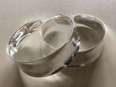Two bracelets, 925 silver; adjustable in size