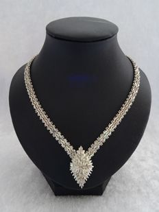 "Unique 925 silver ""Riccio"" link necklace – length 45 cm"