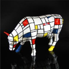 CowParade - Cow Moondrian Large - Jon Eastman
