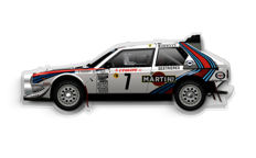 Halmo Collection Lancia Delta S4 plexiglass model