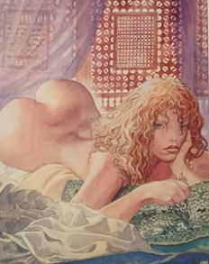 Graphic art; Milo Manara - Aphrodite 1 - late 20th century