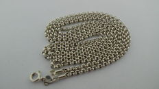 925 solid silver necklace with rolo links – length 92 cm