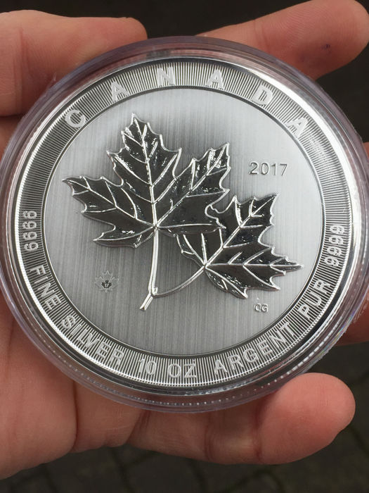 Canada - 50 CAD - 10 oz Maple Leaf - Magnificent 2017 - first Maple Leaf with 10 oz !