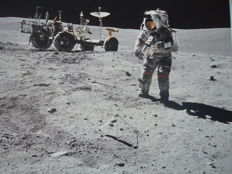 Apollo-16: John Young and moon car