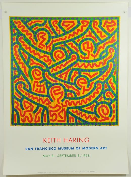 Keith Haring -  3 x Exhibition graphics